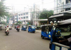 Bajaj on Jakarta streets